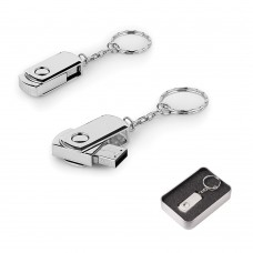 16 GB Döner Kapaklı Metal Anahtarlık USB Bellek